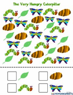 Interactive worksheet The Very Hungry Caterpillar Counting