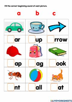 Interactive worksheet Phonic