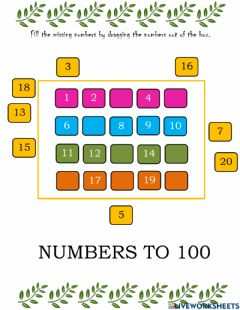Interactive worksheet Numbers to 100