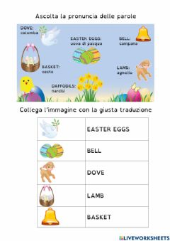 Interactive worksheet Happy Easter1