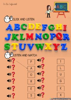 Interactive worksheet Abc