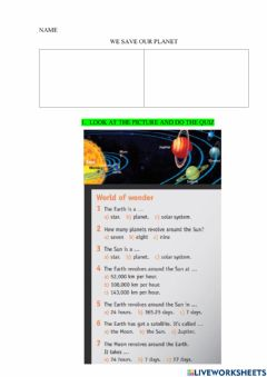 Interactive worksheet We save our planet