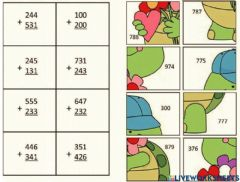 Interactive worksheet Additions puzzle