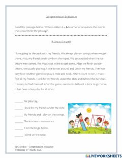 Interactive worksheet Comprehension Evaluation Term 2
