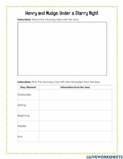 Interactive worksheet Henry and Mudge