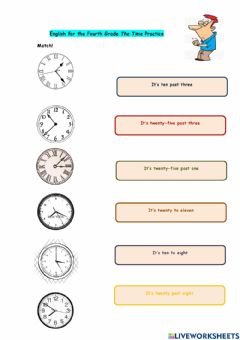 Interactive worksheet The Time Practice