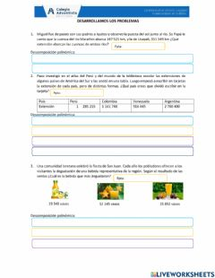 Interactive worksheet Polinomica