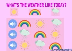 Ficha interactiva What's the weather like today?