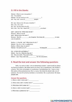 Interactive worksheet IV . Lesson 14 Exercise