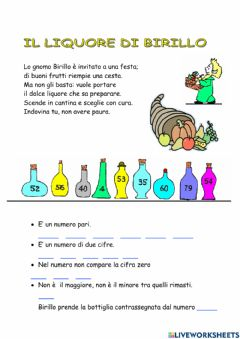 Interactive worksheet Il liquore
