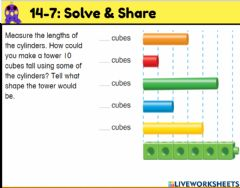 Interactive worksheet Envision 14-7: Solve & Share