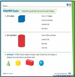 Interactive worksheet Envision 14-7: Independent Practice