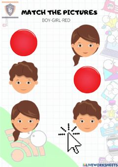Interactive worksheet Red-boy-girl