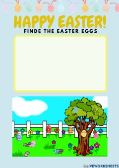 Interactive worksheet Find the easter eggs