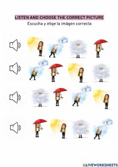 Interactive worksheet Listen and choose - the weather