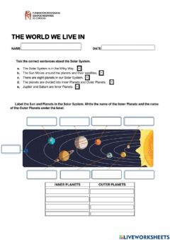 Interactive worksheet Unit 1 - The world we live in
