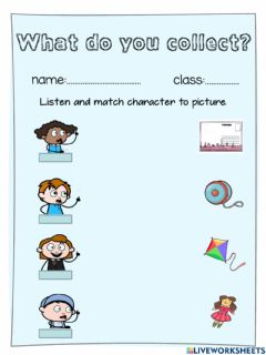 Interactive worksheet What do you collect?