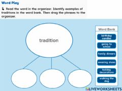 Interactive worksheet Traditions and Customs