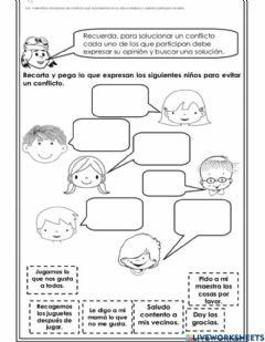 Interactive worksheet Resolución de conflictos