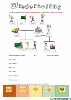 Interactive worksheet Wiederholung 1. Teil