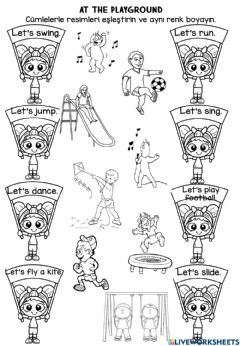 Interactive worksheet At the playground worksheets