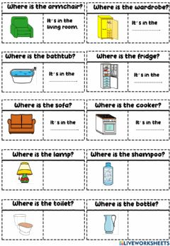 Interactive worksheet Where is the sofa?