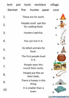 Interactive worksheet The first people