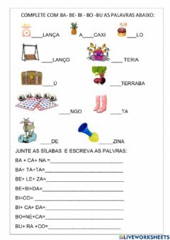 Interactive worksheet Teste