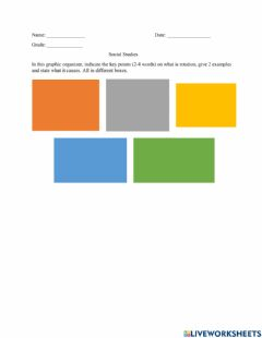 Interactive worksheet Rotation