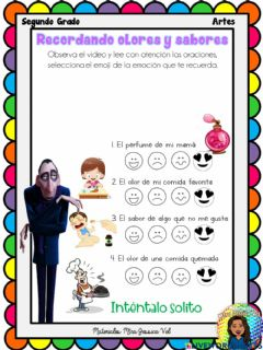 Interactive worksheet Recordando olores y sabores