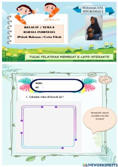 Interactive worksheet Latihan LKPD