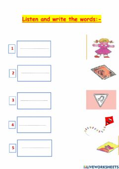 Interactive worksheet Read and write