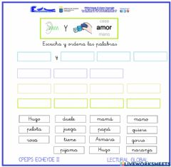 Interactive worksheet Lectura Global. Escuchar frases 4