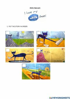 Interactive worksheet Pete the Cat