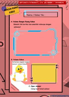 Interactive worksheet ELKP Volume Kubus