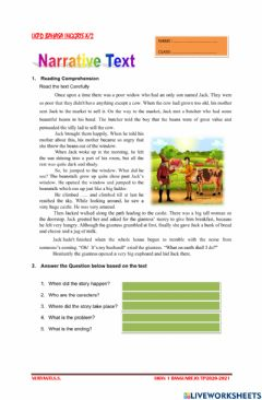 Ficha interactiva Narrative text