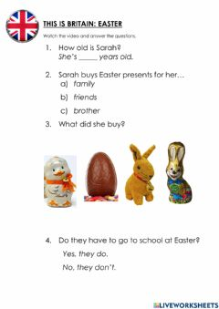 Interactive worksheet Easter in Britain
