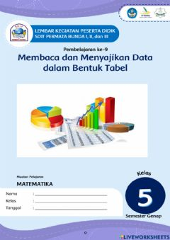 Interactive worksheet Data dalam bentuk tabel