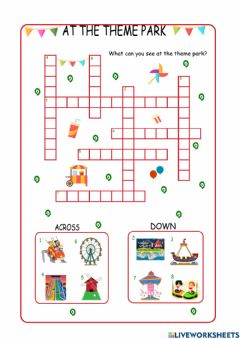 Interactive worksheet At the Theme Park