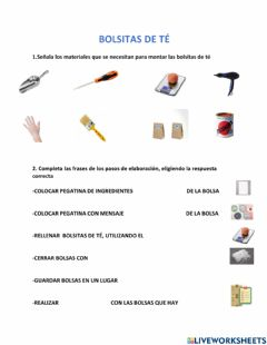 Interactive worksheet Bolsitas te