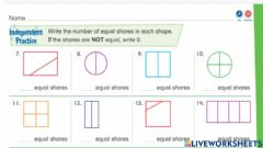 Interactive worksheet Envision 15-1: Independent Practice