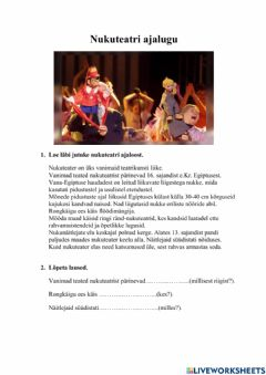 Interactive worksheet Tööleht - teater