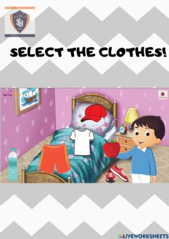 Interactive worksheet Select the clothes