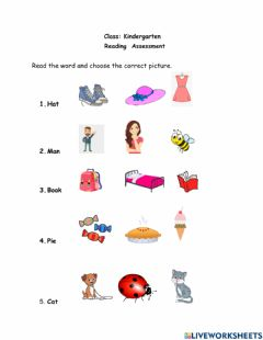 Interactive worksheet Reading 1