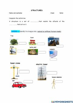 Interactive worksheet Structures revision