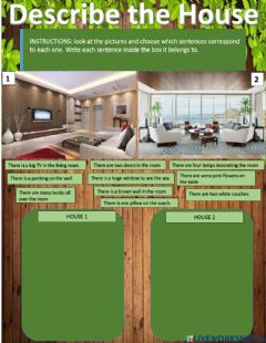 Interactive worksheet Describe the house