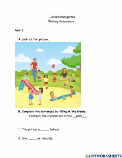Interactive worksheet Writing 1