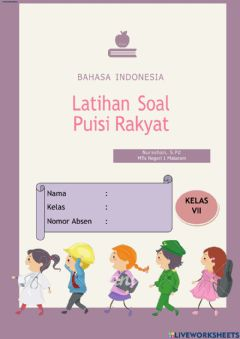 Interactive worksheet LKPD Bahasa Indonesia