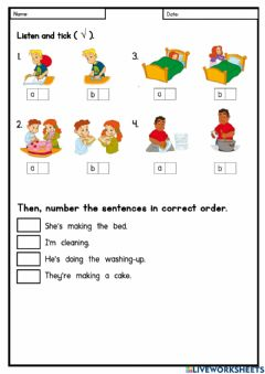 Interactive worksheet Module 3: Right Now!