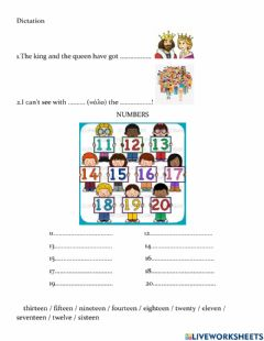 Interactive worksheet Dictation lesson 23 Jet A Junior